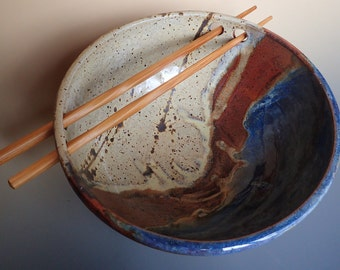 Stoneware Noodle Bowl Rice Bowl Ramen Bowl Good Fortune Bowl