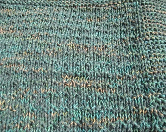 One Hand Knit Washable and Dryable Wool Blend Afghan & Throw Blanket
