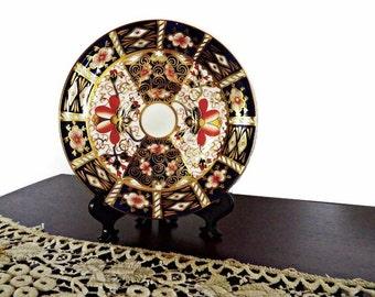 Antique Royal Crown Derby, Imari Saucer/Plate pattern 2451/ Imari Side Plate/ Crown Derby Display Plate