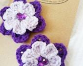 2 Hair Clips, Flower Hair Clip, Crochet Hair Clip
