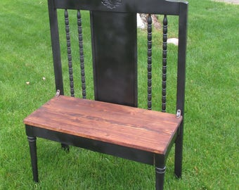 Custom Built Antique Farmhouse Hall Porch Bench