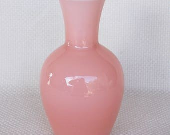 Vintage Mikasa Pink Glass Vase by Larry Laslo for Mikasa Pink Blush Flower Vase