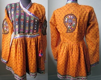 Colorful Kutch Banjara Mirror Embroidered Gypsie Dancers Jacket from Rajasthan