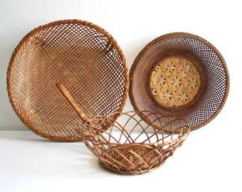 SALE Three Bentwood Baskets