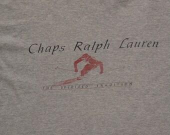 vintage Chaps Ralph Lauren skiing t shirt