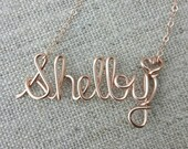 Rose Gold Name Necklace, Custom Name Necklace, Personalized Name Necklace, Bridesmaid Necklace, Personalized Name Jewelry Gifts Under 20