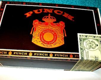 Cigar Box for crafting, purses, supplies  - PUNCH - Champion - Empty Cigar Box