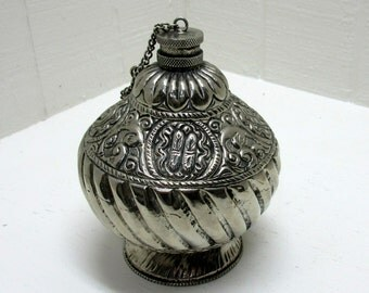 Vintage Silverplate Flask John Richard Collection