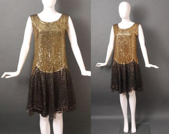 1920s Sequin Dress / Flapper Sparkle Dress / 20s