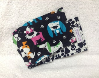 Male Dog Belly Band Diaper Pet Panties Doggie Wrap Pants Puppy Print Flannel Custom Sizes To 30 Inches