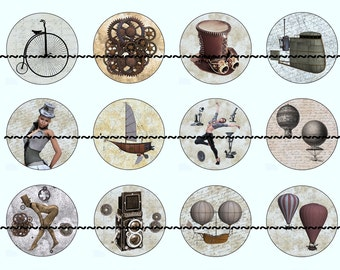 Steampunk Magnets, Steampunk Pins, Party Favors, Wedding Favors, Magnet Gift Sets, Pin Gift Sets, Fridge Magnets, Refrigerator Magnet