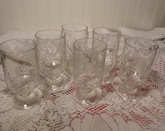 Princess House Heritage Mugs - Set of Six (6) Princess House Coffee Mugs  -  16-134