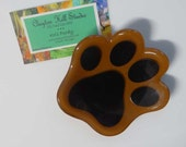 Fused Glass - Paw bowl