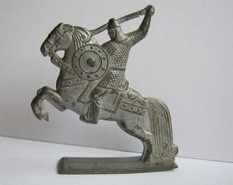 Old vintage russian figurine tin soldier toy