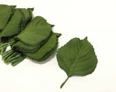 Silk Flowers - Leaves - 40 Larger Size Green Hyrangea Leaves - Artificial Leaves - Greenery - Foliage