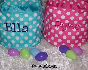 Easter basket, Personalized Easter basket, Easter bucket, Easter tote, collapsible tote, Personalized Easter bucket, Monogrammed Easter tote