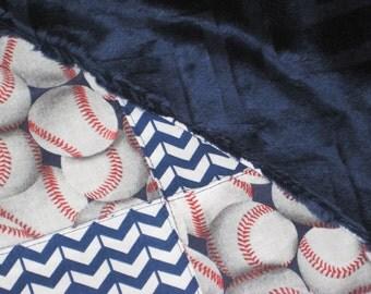 9 Patch Minky Baseball Security Blanket