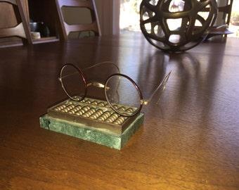 Stevens Co Rare Lennon style Vintage Wire Rim Eyeglasses Frames Gold filled Bakelite