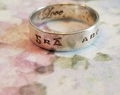 Vintage Sterling Silver Irish Gaelic Band Ring 1990s Wedding Band 925 Women Size 8 Love Now and Forever