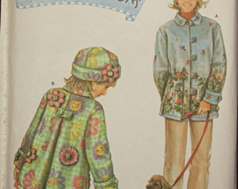 Girls Toddler Kids Size 3 4 5 6 Simplicity 4805 Fleece Coast Hat Daisy Kingdom Donna DewBerry   Child Sewing Pattern Sew Uncut