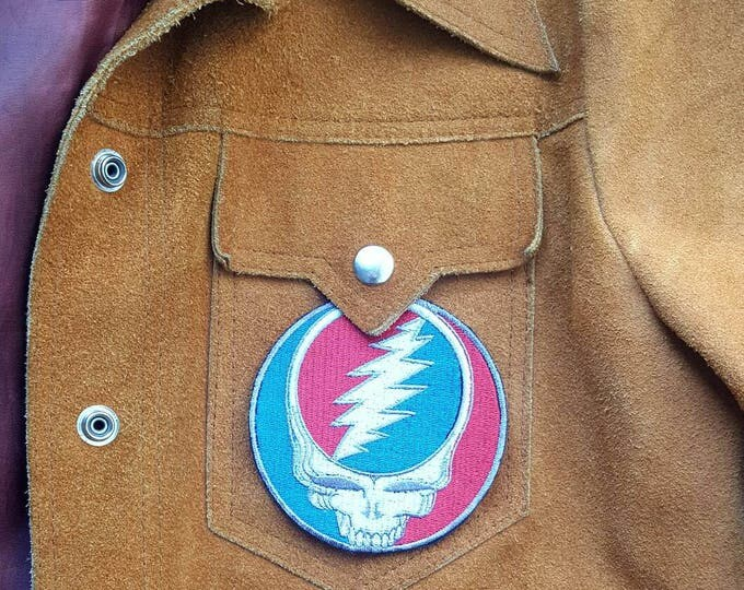 Grateful Dead Steal Your Face Full Stitch Patch Iron On Jam Band Patch Hippie Patch Steal Your Face Patch