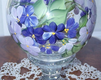 Ivy bowl vase purple lilac