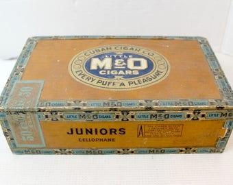 vintage cigar box photo prop craft supply cigar box purse