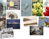 SPECIAL LISTING for madebyniniws. Set of diferent postcards 2x6