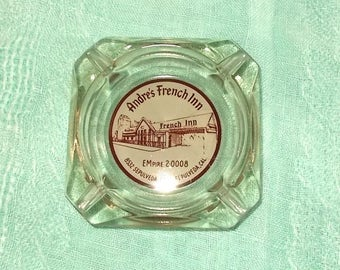 Vintage 1960's Glass Ashtray-ANDRE'S French Inn in Sepulveda CA