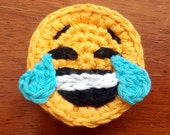 Emoji crochet pattern, instant download, pdf, smilies