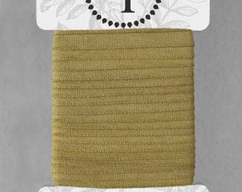 Naturally Dyed 6mm Ribbon-Olive