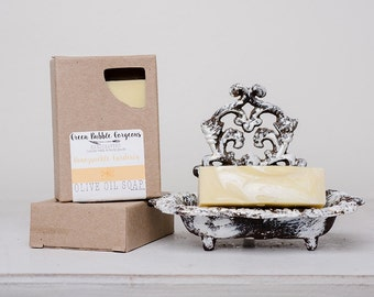 Olive Oil Soap, Honeysuckle Gardenia, (*Summer Scent*) made with organic oils and Phthalate Free oils, by greenbubblegorgeous