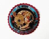 I wish it would Rain  Pommecopine studio Embroidery patch