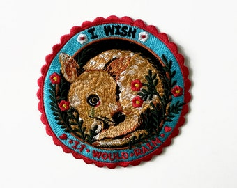 I wish it would Rain  Pommecopine studio Embroidery patch