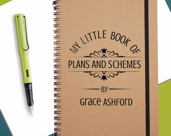 Plans & Schemes|Personalised Notebook|Gift Notebook|Personalised Journal|A5 Notebook| Spiral bound Notebook
