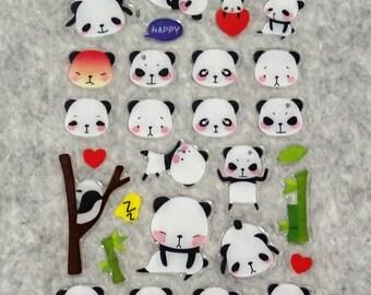 Mixed Cute PVC Happy Cute Playful Bear Stickers