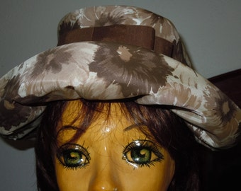 Vintage late 60s Flower Power Hat with Bow