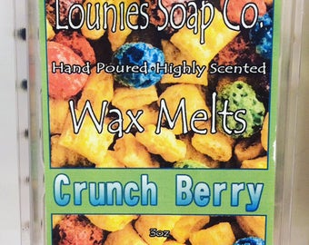 Crunch Berry Wax Melt | Soy Blend | Highly Scented | Handmade | Wax Melter | Wax Tarts | Soy | Soy Tarts | 3oz Pack | Cereal | Food Scent