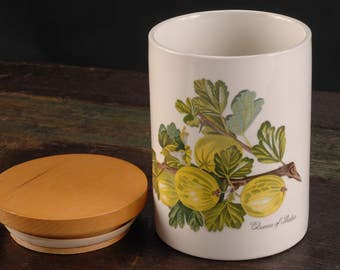 Portmeirion Canister, Pomona, Queen of Sheba (Gooseberry), England
