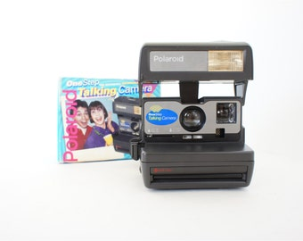 Talking Polaroid Camera 636 OneStep w/ Original Box and Manual - Film Tested Working