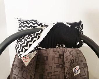 Infant Car Seat ARM PAD, Handle Cover Wrap, Reversible - Star Wars - Darth Vader - Glow in the Dark