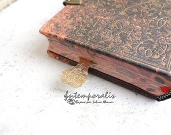 Bronze bookmark, OOAK, SAMP03