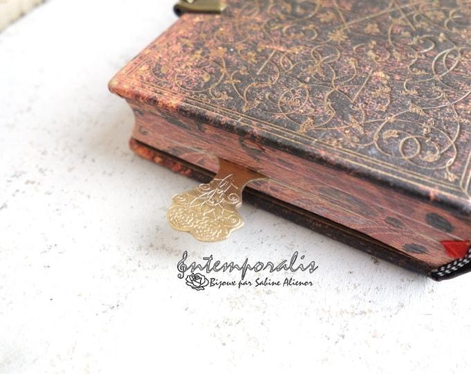 Bronze bookmark, OOAK, SAMP03