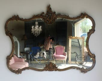 H U G E, Rococo Mirror Vintage Wide Framed Shabby Chic Design