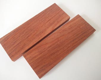 "Exotic Wood Knife Scales Grips Handles ~ African Padauk ~ 5"" Bookmatched Set"