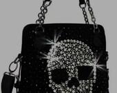 Custom leather and Swarovski stone bag for Samantha Ann