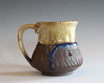 Coffee Mug Pottery, 8 oz, unique coffee mug, handmade ceramic cup, handthrown mug, stoneware mug, pottery mug, ceramics and pottery