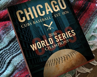 Chicago Cubs World Series - Chicago Cubs World Series Art - Chicago Cubs World Series 2016 - Wood Block Art Print