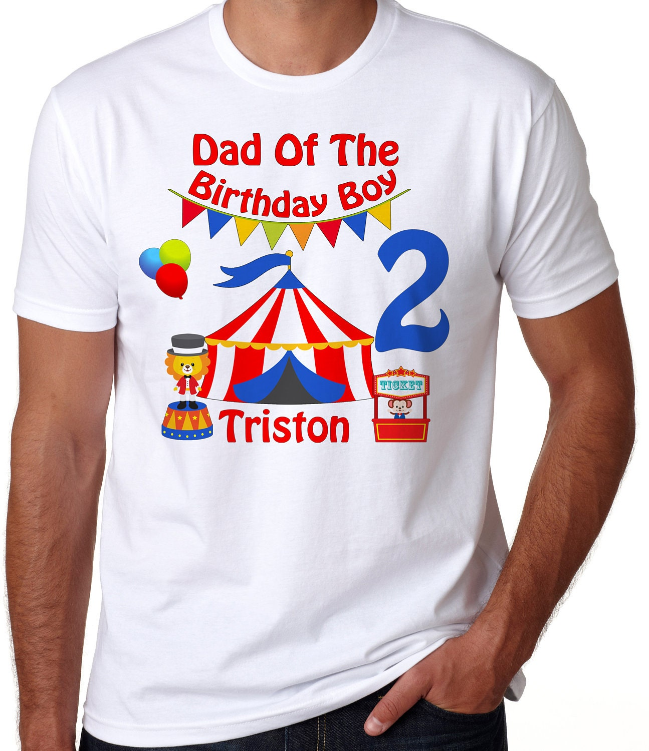 birthday boy adult circus birthday shirt circus shirt circus with name shirt dad of the birthday boy mo