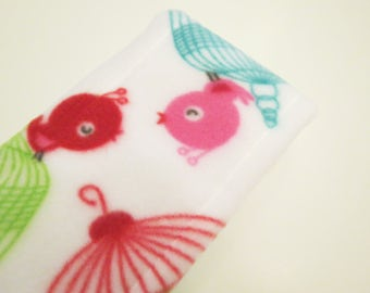 Birdcages and Red Polka Dots baby burp rags or burp cloths